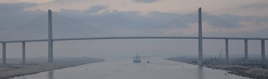 Suez Bridge Ship